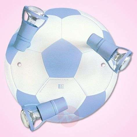 Light blue Football ceiling light with 3 bulbs