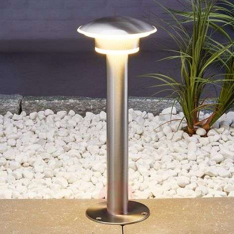 Lillie stainless steel pillar light with LED