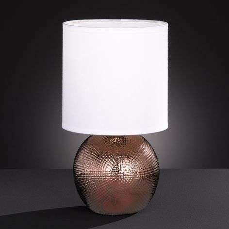 Little table lamp Foro with copper-coloured base