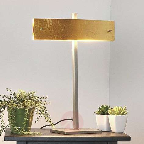 Malu table lamp with golden lampshade, LED