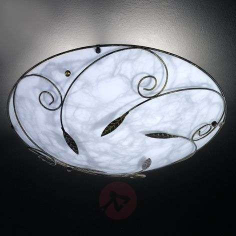 Marbled ceiling lamp MOL with metal decoration