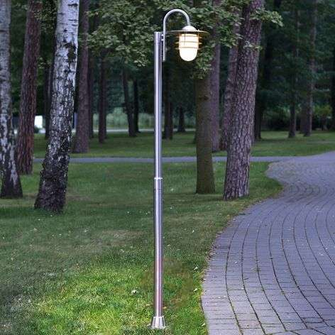 Mian Curved Mast Lamp Made of Stainless Steel