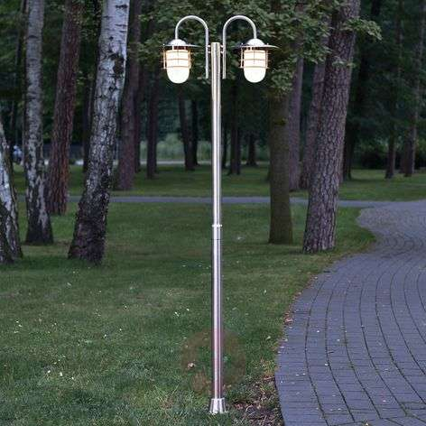 Mian Two-Arm Mast Lamp Made of Stainless Steel