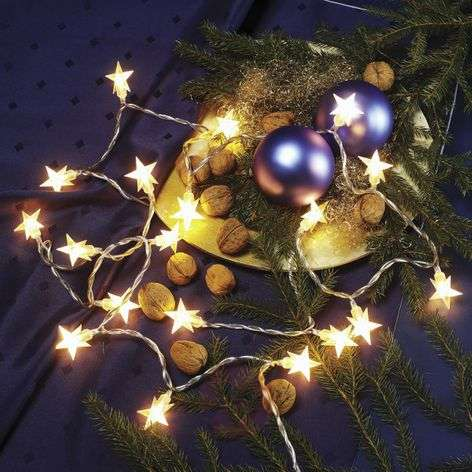 Micro string lights Stars, 1 string, 3.4 m