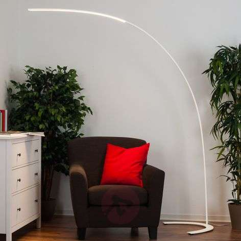 Minimalistic Danua LED floor lamp in white
