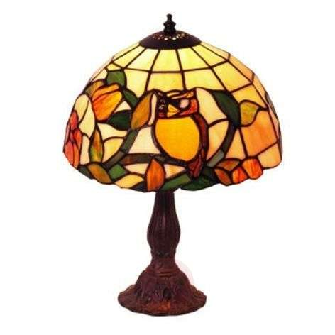 Motif table lamp JULIANA in the Tiffany style