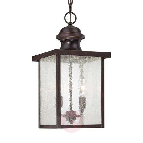 Newberry - hanging light in bronze for outdoors