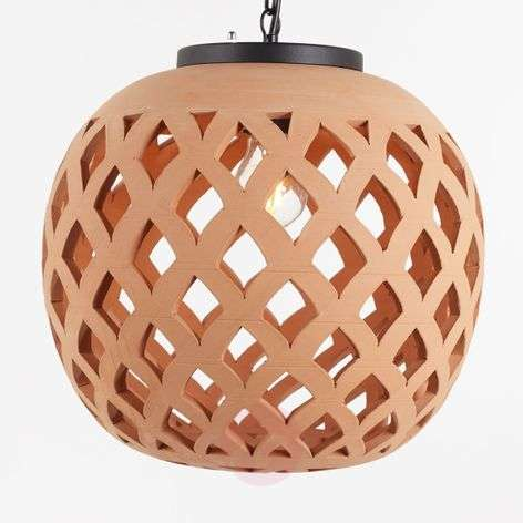 Outdoor pendant lights lights outdoor hanging light salina ceramic lampshade mozeypictures Images