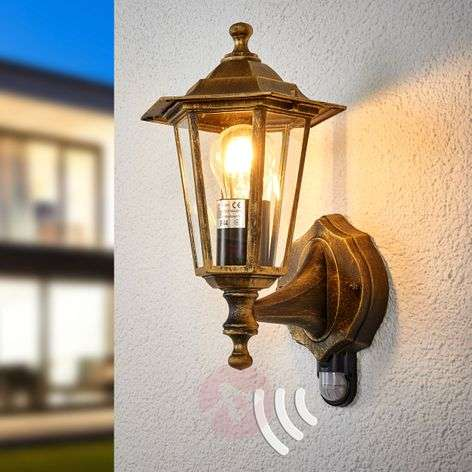 Outdoor lamp PEKING w/infrared detector black-gold
