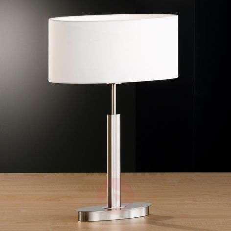 Oval table lamp Finn with white shade