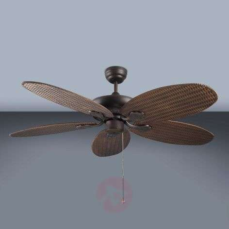 PHUKET ceiling fan with a woven look