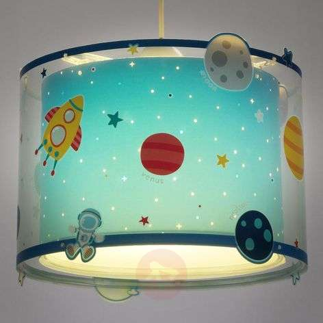 Planets - children's pendant light with motif