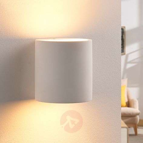 Plaster wall light Krista with G9 LED bulb