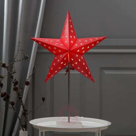 Red and white decorative star Leo