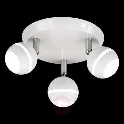 Round LED ceiling light Groove in white