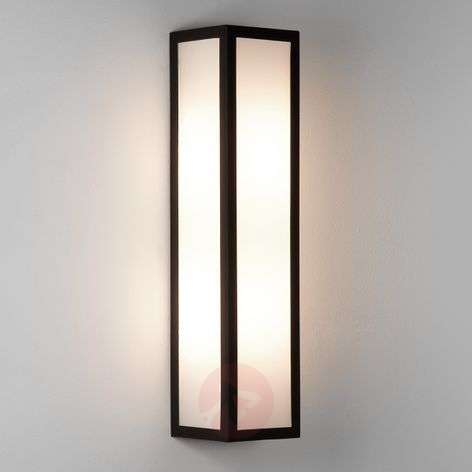 Salerno Outside Wall Light with White Glass