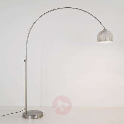 Satin-finished arc floor lamp LOUNGE