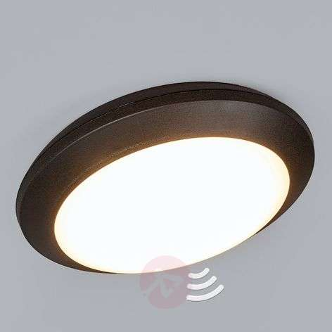 Sensor ceiling light Umberta black 11W 3,000 K