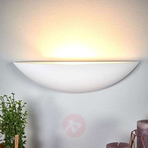 Shell-shaped plaster wall lamp Guilia