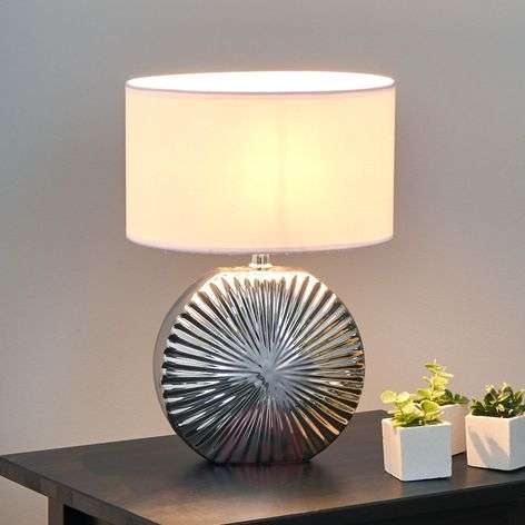 Modern table lamps buy online top quality lights shot beautiful ceramic table light silver mozeypictures Gallery