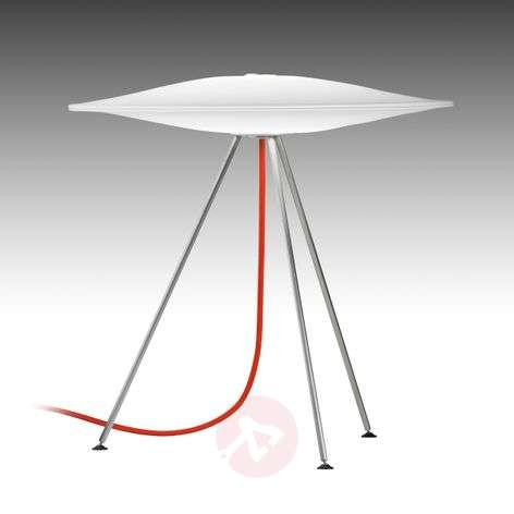 Sine designer table lamp with red power cable