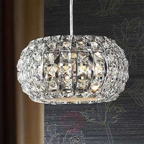 Small, round crystal hanging light DIAMOND