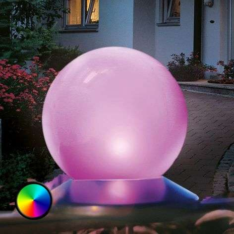Solar light ball with colour changing