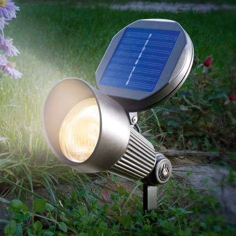 Solar light Spotlight with warm white LED lighting