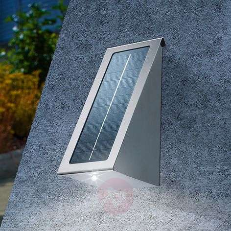 Solar wall spotlight stainless steel with LED