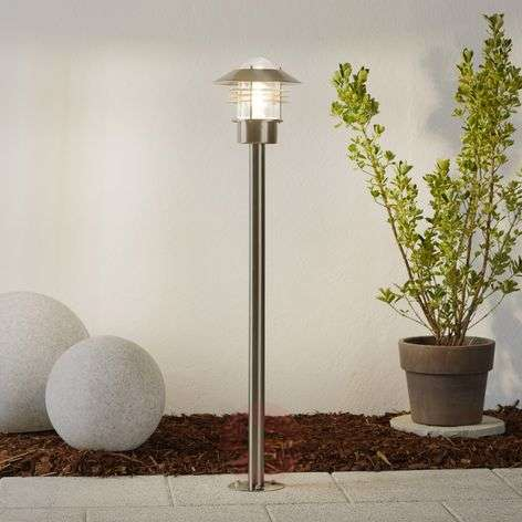 Solid stainless steel pathway lamp Vejers