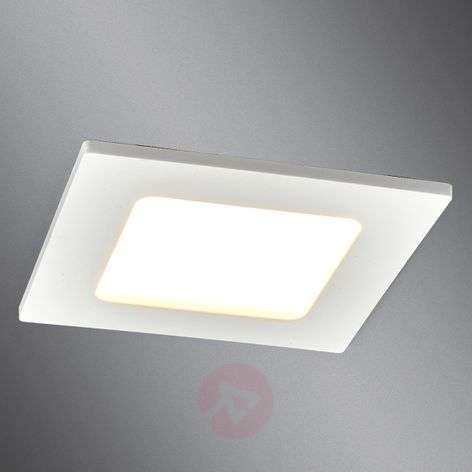 Square LED recessed light Feva in white, 5 W