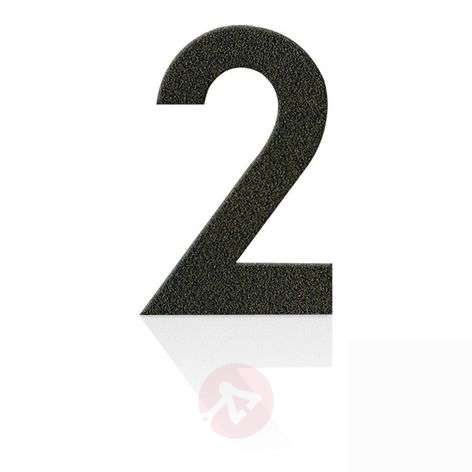 Stainless steel house numbers in mocha brown, 0-9