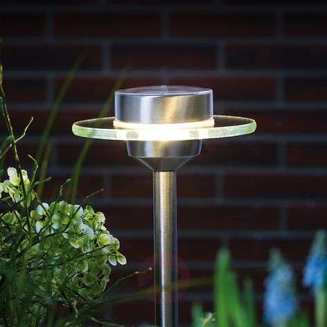 Stainless steel solar lamp Ufo w/LED IP44