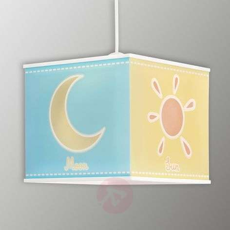 Sun, moon and star - hanging light Nature