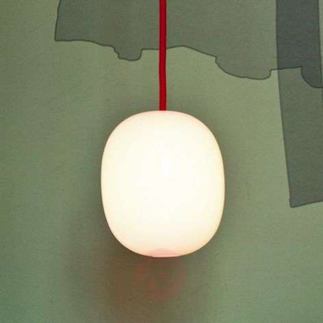 Super Egg - pendant light with red power cable