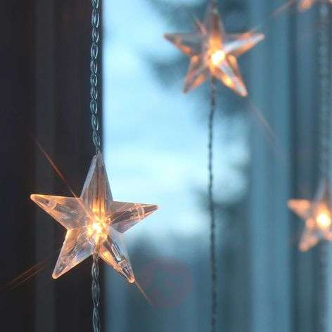 Ten strands - LED curtain light Star, 20-bulb