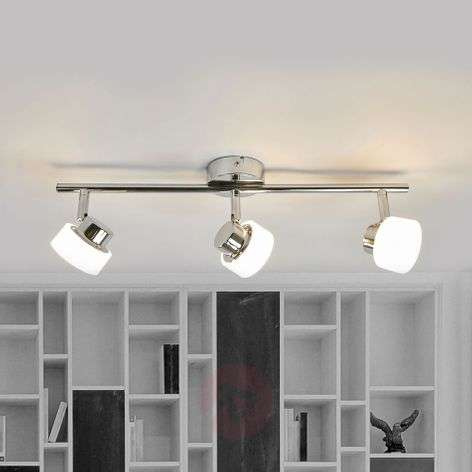 Led ceiling lights buy online huge selection lights three bulb shia led ceiling light in chrome mozeypictures Image collections