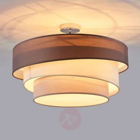 Three-layer ceiling light Melia in brown and grey