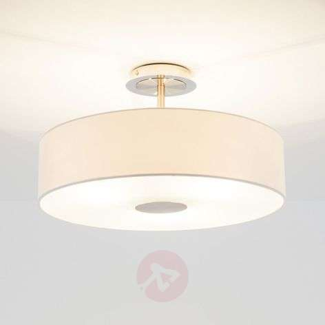 Timeless ceiling light Josia made of white fabric