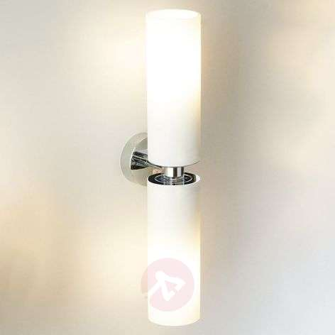 Tube twin double wall light in frosted glass lights tube twin double wall light in frosted glass aloadofball Gallery