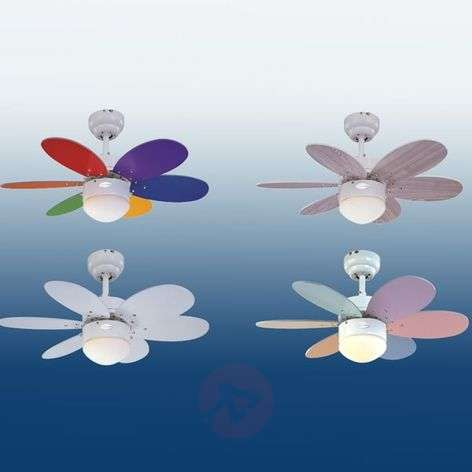 Turbo II ceiling fan with two sets of blades