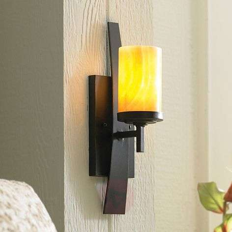 Wall lamp Kyle with onyx lampshade