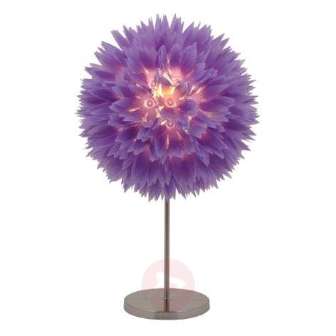 Welcoming Flower table lamp, violet