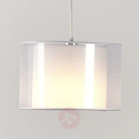 White fabric pendant light Jasna with an E27 LED