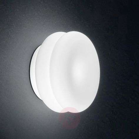 White LED wall light Wimpy made of glass