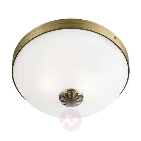 Windsor ceiling light with antique brass look
