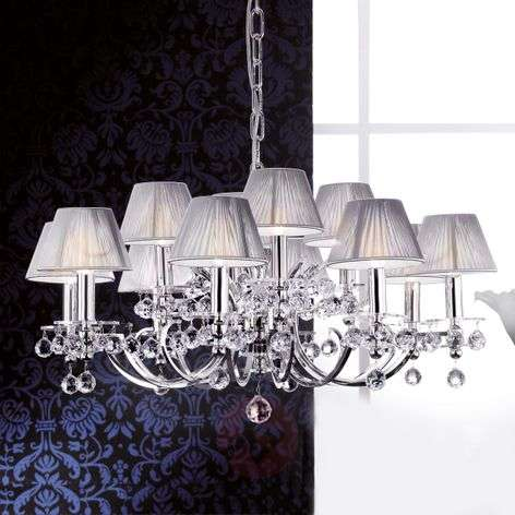 With fabric shades - chandelier Crystal Design
