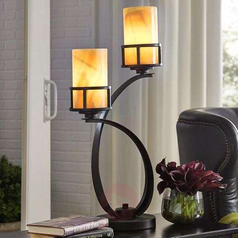 With onyx lampshades - table lamp Kyle