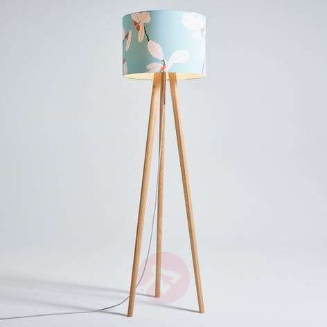 really cool floor lamps. Wooden Floor Lamp Sten Flower, Fabric Lampshade Really Cool Lamps A