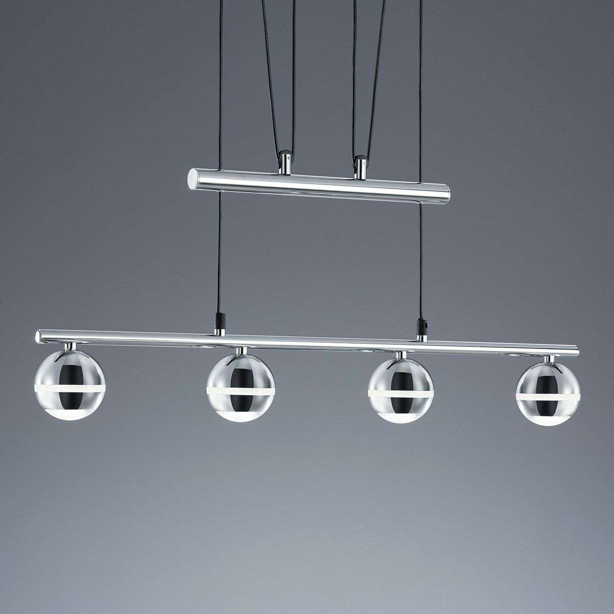 Ada LED Pendant Light, Height-adjustable, 4 Bulbs